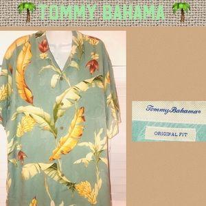 100% silk Tommy Bahama Tropical Shirt🌴
